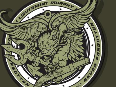 Lieutenant Murphy - Navy Seals Trident Patch illustration
