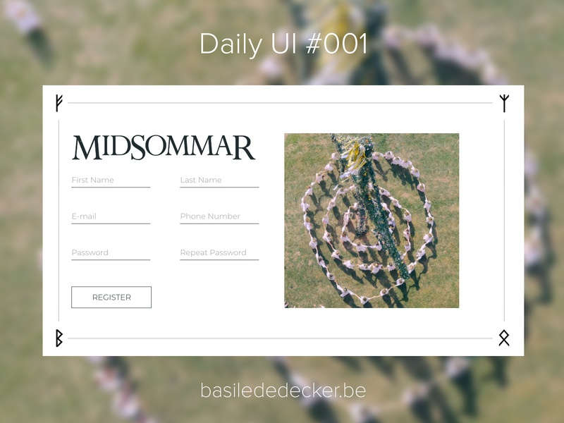 Daily UI #001 – Midsommar dailyui 001 daily ui dailyui