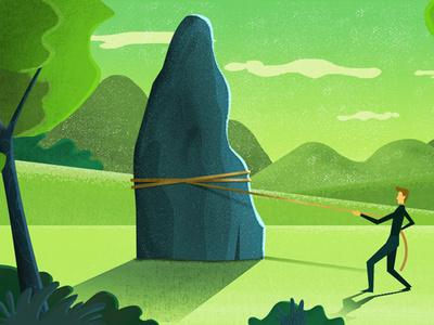 Struggle video animation explainer illustrastion