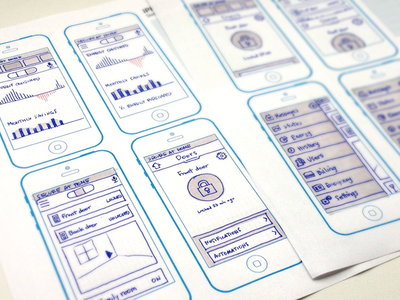Energy and Navigation navigation iphone ios wireframe sketch energy graph infographic nav