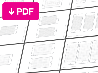iPhone6 Sketch Templates iphone iphone 6 iphone 6 plus wireframe sketch grid template