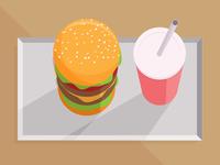 Cheeseburger & Shake