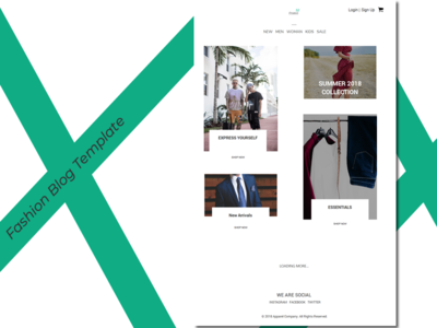Fashion Blog Template - Concept style template blog fashion