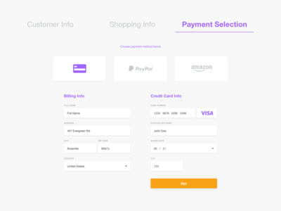 Daily UI :: 002 - Credit Card checkout
