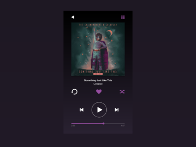 Daily UI 009 :: Music Player