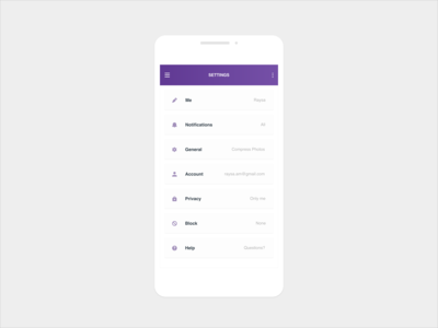 Daily UI 007 :: Settings