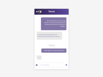 Daily UI 013 :: Direct Messaging