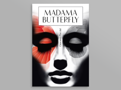 Madama Butterfly graphic head illustrator photoshop opera puccini face girl ivanmisic madamabutterfly artwork design poster