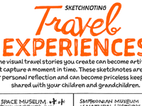 The Sketchnote Workbook: Sketchnoting Travel Experiences (2/C)