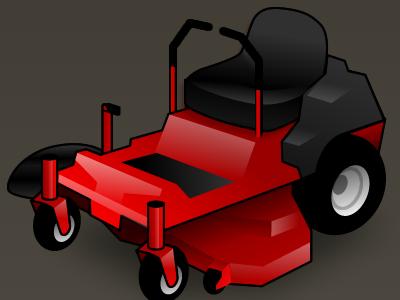 Z turn mower red