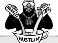 The $100 Startup - Hustlin' Illustration