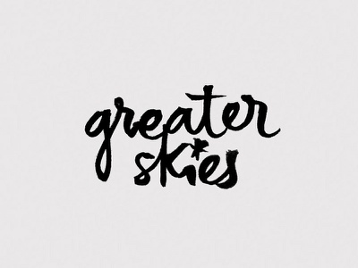 Greaterskies (loser & learning version) stars calligraphy logo