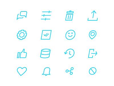 Anyhire icons app branding icons