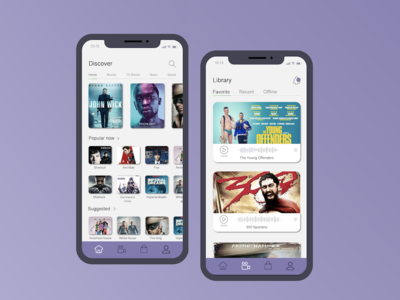 Movie Mobile App movie app userinterface ui design application design ios designs app clean application ux ui