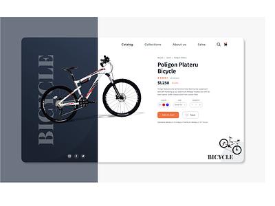 Bicycle Product landingpage bicycle userinterface webdesign xd design logo web app illustrator designs ux ui