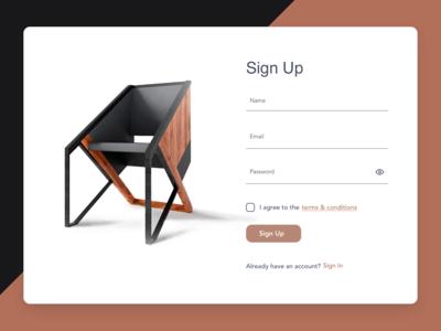 Sign Up Page ios creative visual design webdesign design clean ui designs ux ui dailyui