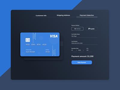 Credit Card Checkout design ios application clean ui icon designs ux ui dailyui 002 dailyui