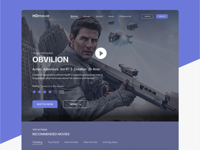 Landing Page app movie page landingpage ios branding application clean ui designs ux ui dailyui 003 dailyui