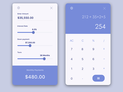 Calculator calculator web design application clean ui logo icon designs ux ui dailyui 004 dailyui