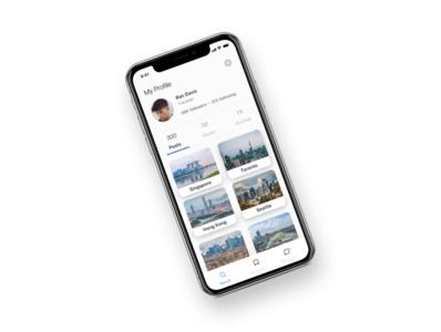User Profile app user profile mobile app design branding application clean ui logo icon designs ux ui dailyui 006 dailyui