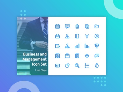 Business and Management Iconset - Line Style