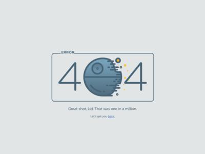 Daily UI 008: 404 Page icon star wars han solo minimal 404 death star 404 page interaction web ux ui dailyui