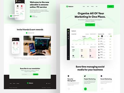 SaaS Marketing Software Landing page digital marketing marketing uiux marketing software ux design ui design web design trendy design website marketing agency