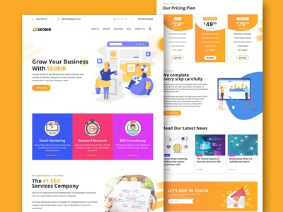 SEO & marketing agency home page design concept