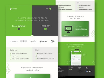Subzz Homepage redesign