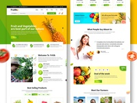 fresh fruits and vegetables eCommerce website homepage concept