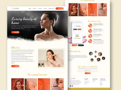 Luxury Spa Salon Homepage Redesign