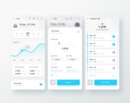 Tide Chart Reminder for Landscape Photography App dribbble interaction design clean user interface flat design app design