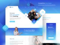 Fresh Concept for Web Hosting Provider Landing Page