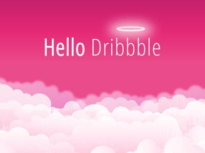 Hello Dribbble! heaven debut shot first dribbble hello