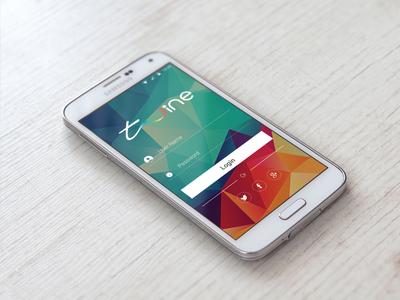 Twine Login Screen samsung galaxy polygonal android mobile login twine
