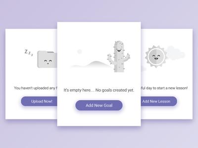 Empty State empty state fun minimalist lesson goals upload folder sun cactus ui illustrator illustration