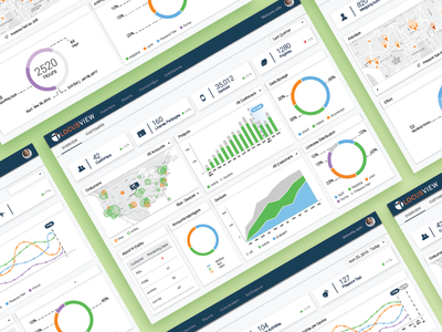 Dashboard - NortecView material design donut chart mapping gas locusview table map tiles graph flat nortecview dashboard