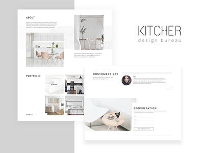 KITCHER Landing Page building logo minimal web e-shop clean website landing homepage ui concept ux e-commerce