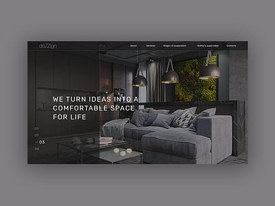 DEZZIGN typography design clean website landing homepage ux ui concept e-commerce