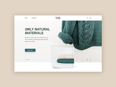 WOOL Homepage grey design minimal logo clean web e-shop landing website concept homepage ui ux e-commerce