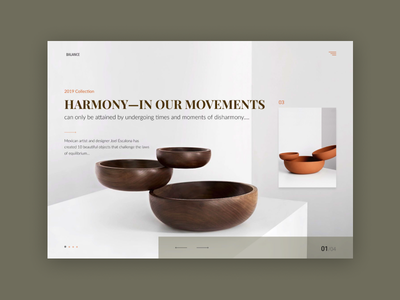 Harmony grid logo grey e-shop design web minimal clean website landing homepage e-commerce concept ux ui