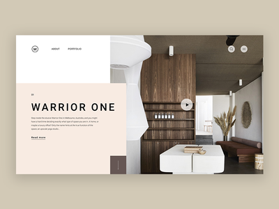 Warrior One whitespace interior design interior typography grid logo e-shop grey design website web minimal landing homepage e-commerce concept clean ux ui