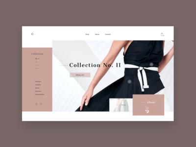 Collection logo branding grid e-shop design website web minimal landing homepage e-commerce concept clean ux ui