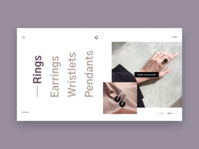 Squarespace branding typography logo grid grey e-shop design website web minimal landing homepage e-commerce concept clean ux ui