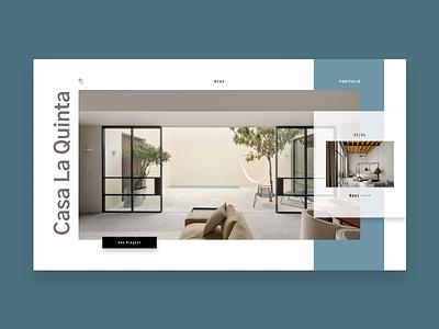 Casa La Quinta interior design whitespace building product branding grid logo grey e-shop design website web minimal landing homepage e-commerce concept clean ux ui