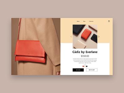 Cadiz product whitespace branding e-shop grid logo grey design website web minimal landing homepage e-commerce concept clean ux ui