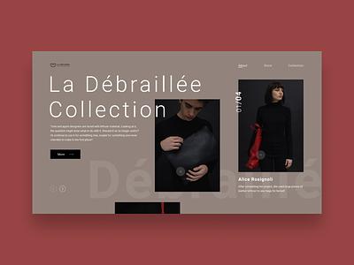 La Débraillée icon product typography grid logo grey design website web minimal landing homepage e-commerce concept clean ux ui