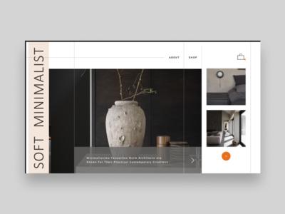 SOFT minimal design concept website ux ui landing homepage e-commerce clean