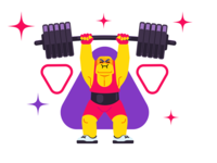 illustration for a fitness club