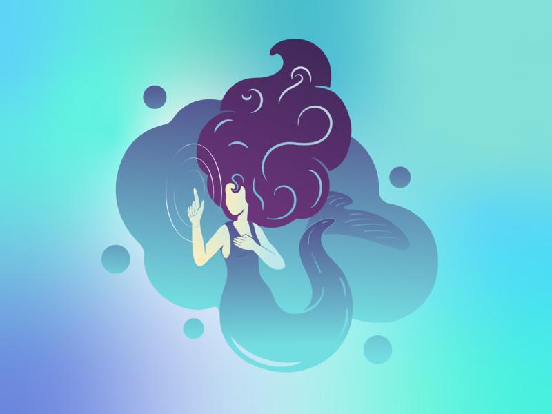 touch water vector art flat illustrator illustration design